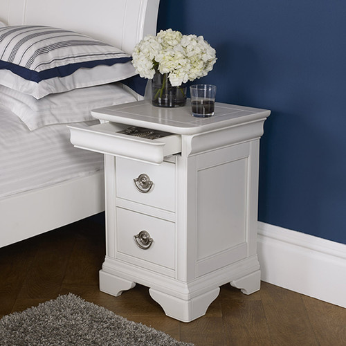 BLAIRE NIGHT STAND WITH TWO DRAWER - WHITE