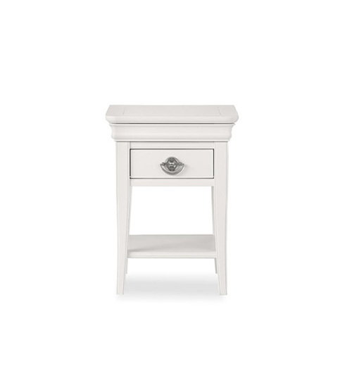 BLAIRE NIGHT STAND WITH ONE DRAWER - WHITE