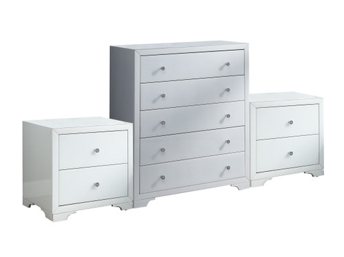 BOULEVARD 3 PIECE GLASS CHEST SET (5+2+2) - WHITE