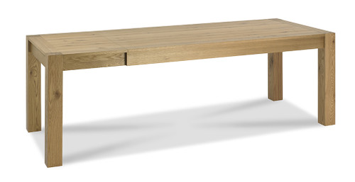 AERGLO LARGE END EXTENSION DINING TABLE - LIGHT OAK