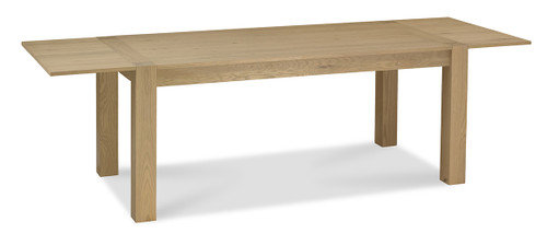 AERGLO TWO END EXTENSION DINING TABLE - LIGHT OAK
