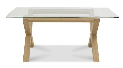 AERGLO X LEG DINING TABLE - LIGHT OAK