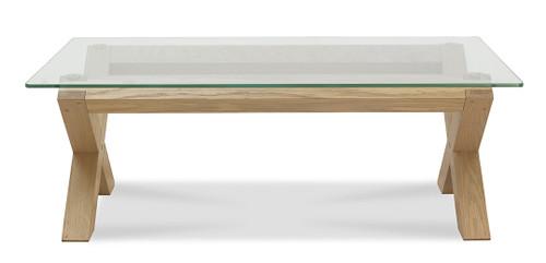 AERGLO X LEG COFFEE TABLE - LIGHT OAK