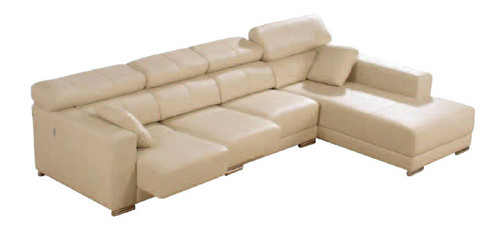 COLORADO 3 SEATER PUSHBACK RECLINER WITH CHAISE - FULL LEATHER - ASSORTED COLOURS