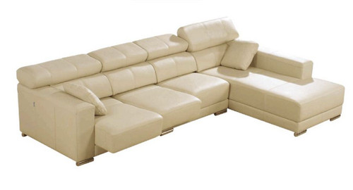 COLORADO 2 SEATER PUSHBACK RECLINER WITH CHAISE  (NOT AS PICTURED) - FULL LEATHER - ASSORTED COLOURS