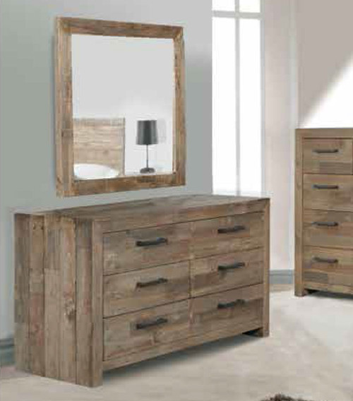 ASTORIA DRESSER ONLY (MIRROR NOT INCLUDED) - 800(H) x 1450(W) x 450(D) - AGED PIER