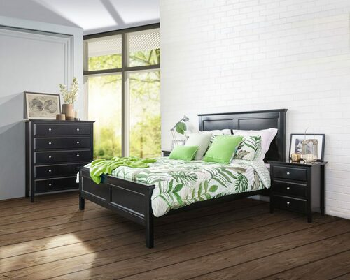 BALLINA KING 6 PIECE (THE LOT) BEDROOM SUITE - WHITE OR BLACK