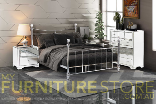 GEMSTONE KING 6 PIECE (THE LOT) BEDROOM SUITE - CLEAR