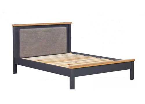 DOUBLE RAYLEIGH (MODEL:CAM-12b) BED - AGE OAK/DARK BLUE