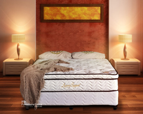 DOUBLE LUXURY COMFORT POCKET SPRING ENSEMBLE (BASE & MATTRESS) WITH LATEX - FIRM