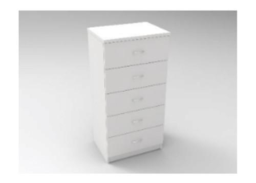 AUGUSTIN (MODEL:PRM600D) 5 DRAWER TALLBOY - 1210(H) x 600(W) - LICORICE , SMOKE , OAK , WHITE