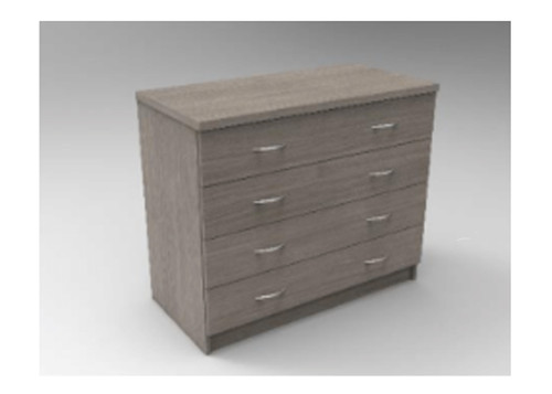 AUGUSTIN (MODEL:PRM904) 4 DRAWER TALLBOY - 750(H) x 900(W) - LICORICE , SMOKE , OAK , WHITE