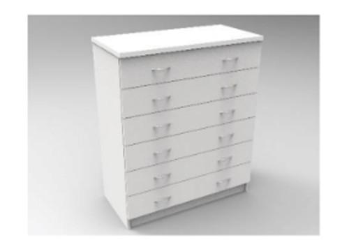 AUGUSTIN (MODEL:PRM906) 6 DRAWER TALLBOY - 1070(H) x 900(W) - LICORICE , SMOKE , OAK , WHITE