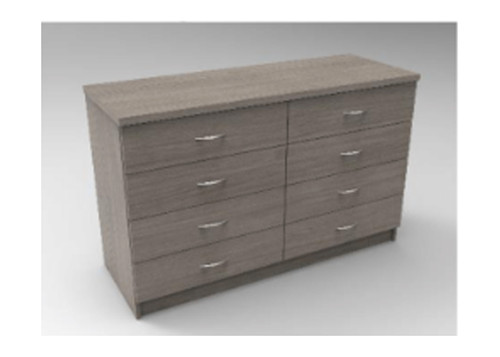 AUGUSTIN (MODEL:PRM1208) 8 DRAWER TALLBOY - 750(H) x 1200(W) - LICORICE , SMOKE , OAK , WHITE