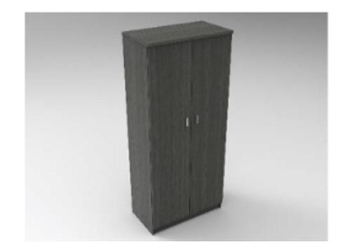 AUGUSTIN (MODEL:COM900) 2 DOOR COMBO HANG / SHELF ROBE - 1800(H) x 900(W) - LICORICE , SMOKE , OAK , WHITE