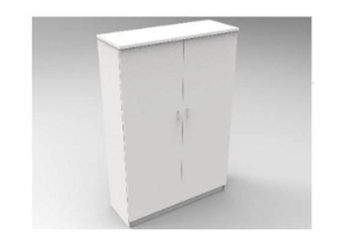 AUGUSTIN (MODEL:PRMHR1200D) 2 DOOR ROBE WITH HAT SHELF - 1800(H) x 1200(W) - LICORICE , SMOKE , OAK , WHITE