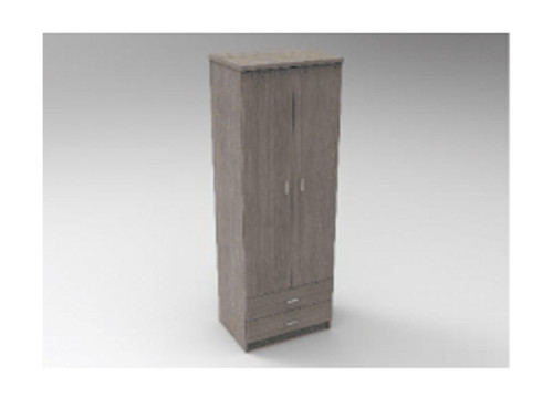 AUGUSTIN (MODEL:PRM602R) 2 DOOR / 2 DRAWER ROBE - 1800(H) x 600(W) - LICORICE , SMOKE , OAK , WHITE