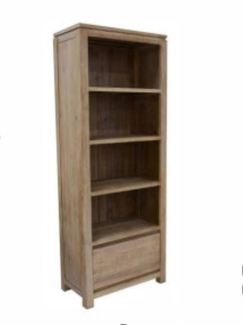ARCHENAR BOOKCASE (MODEL: VH-ASAH-08) - PEWTER/DARK EARTH