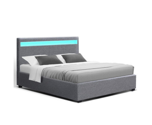 DOUBLE JOHNCARL GAS LIFT STORAGE BED - GREY