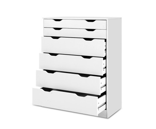 ARTISS 6 DRAWER TALLBOY - WHITE