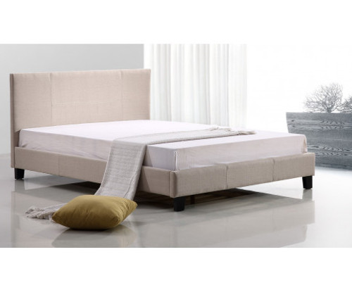 DOUBLE HARLEY FABRIC BED - BEIGE