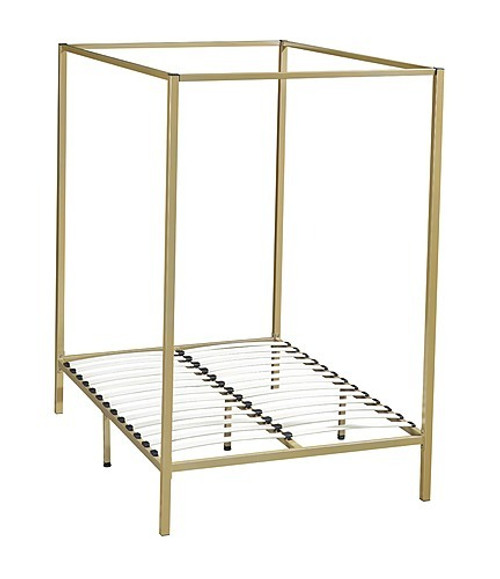 DOUBLE NICHOLSON 4 POSTER BED FRAME - GOLD