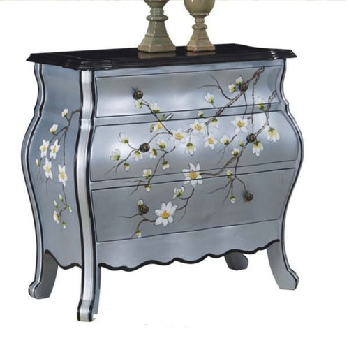 CAEL DECORATIVE 3 DRAWER LOWBOY CHEST (MODEL:F2109) - 870(H) x 970(W) - AS PICTURED