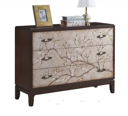 DREXEL DECORATIVE 3 DRAWER LOWBOY WIDE CHEST (MODEL:F2118) - 900(H) x 1200(W) - AS PICTURED