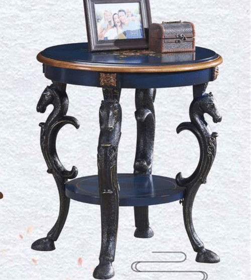 DENVER DECORATIVE ROUND LAMP/SIDE TABLE (MODEL:F2127) - AS PICTURED
