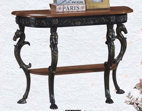 CAYDEN DECORATIVE HALF ROUND SIDE TABLE (MODEL:F2128) - AS PICTURED