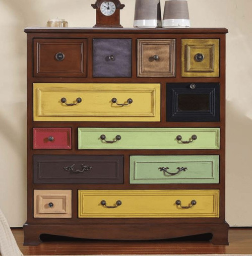 DAMIEN DECORATIVE 12 DRAWER CHEST (MODEL:F2140) - 1100(H) x 1040(W) - AS PICTURED
