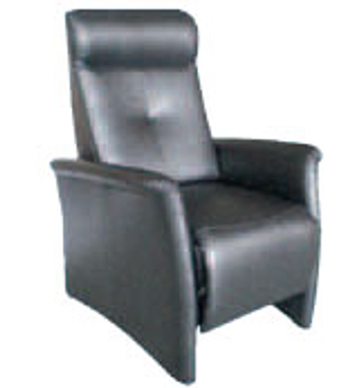 BONNIE (1091) PUSH BACK RECLINER CHAIR - LEATHER - BLACK OR CHOCOLATE