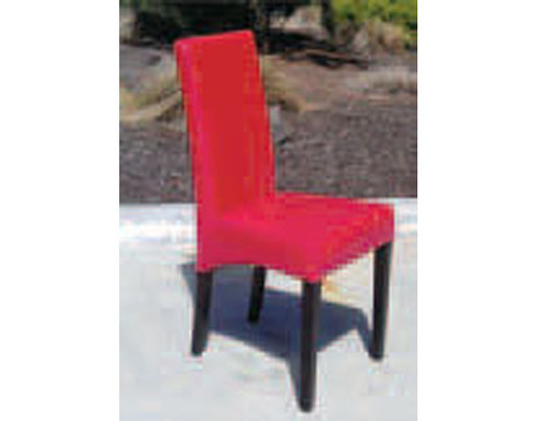 1003 BY CAST LEATHER DINING CHAIR - BROWN, BLACK, RED OR IVORY