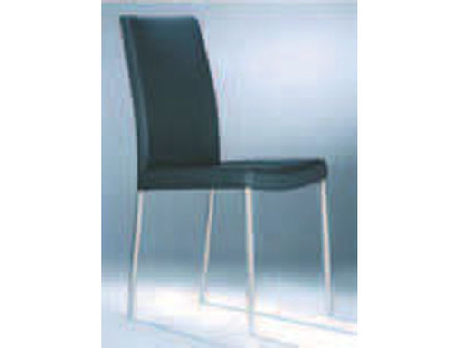 6001 SOFT FULL LEATHER DINING CHAIR - RED, WHITE OR BLACK