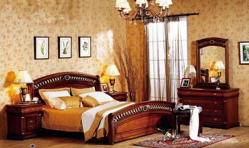BONAPARTE QUEEN 6 PIECE BEDROOM SUITE - AGED WALNUT