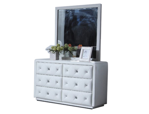 BETHANY (9391) 6 DRAWER DRESSER WITH MIRROR - 1540(H) X 1200(W) - CHOICE OF COLOURS
