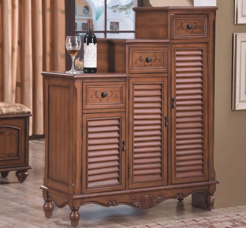 COURTNEY 990(W) DECORATIVE  MULTIPURPOSE SHOE CABINET WITH DRAWERS  MODEL:F2025) - AS PICTURED