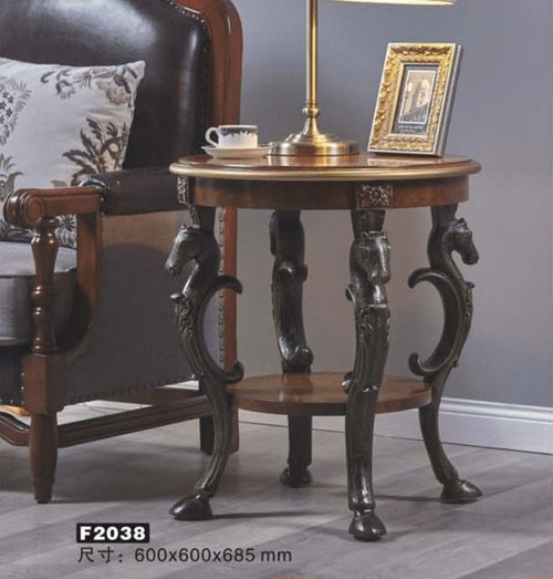 RENO ROUND SIDE TABLE (MODEL:F2038) - AS PICTURED