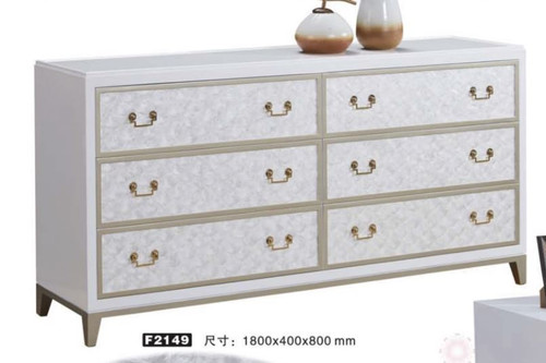 ANSTON DECORATIVE  6 DRAWER LOWBOY CHEST  (MODEL:F2149) - 800(H) X 1600(W)- AS PICTURED