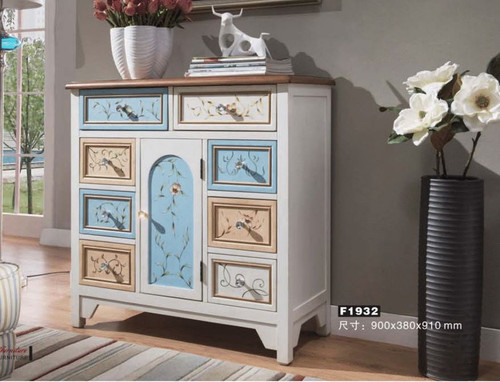 CARDIF 900(W) DECORATIVE  8 DRAWER  BUFFET -   SIDEBOARD  (MODEL:F1932) - AS PICTURED
