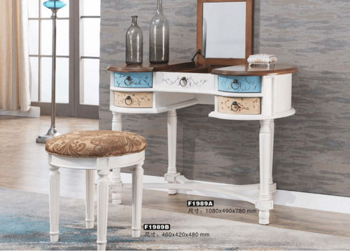 BORDIAN  DRESSING TABLE &  STOOL (MODEL:F1989) - AS PICTURED