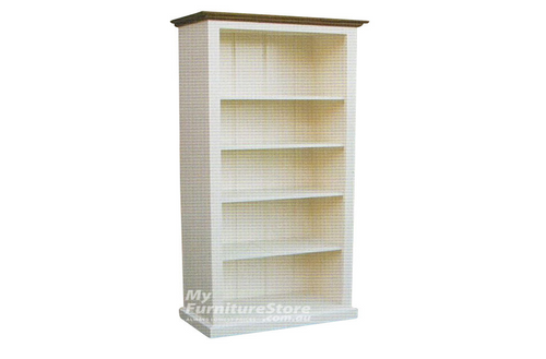 COLONIAL (AUSSIE MADE) BOOKCASE (6X3) - 1800(H) x 900(W) - ASSORTED COLOURS