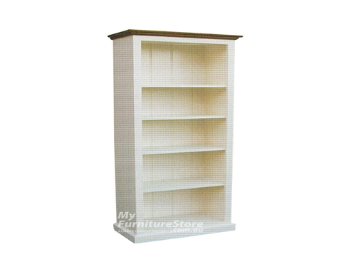 PROVINCE / COLONIAL (AUSSIE MADE) BOOKCASE (6X4) - 1800(H) X 1200(W) - CHOICE OF COLOURS