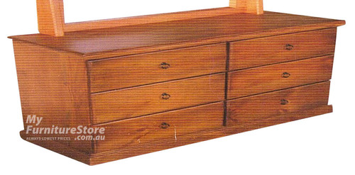 NY 6 DRAWER LOWBOY - 860(H) x 1200(W) x 420(D) - ASSORTED COLOURS