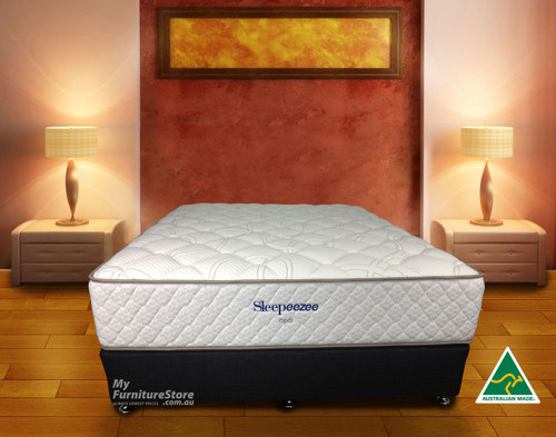 SINGLE OPAL POCKET SPRING + LATEX ENSEMBLE (BASE & MATTRESS) - CHOICE OF BASE COLOURS - MEDIUM