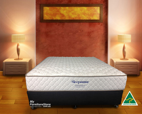 KING SINGLE MASTERPIECE GENTLY FIRM POCKET SPRING ENSEMBLE (BASE & MATTRESS) - CHOICE OF BASE COLOURS - GENTLY FIRM