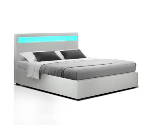 DOUBLE JOHNCARL GAS LIFT STORAGE BED - WHITE