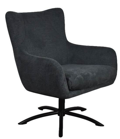 BELLA FABRIC CHAIR - CHARCOAL