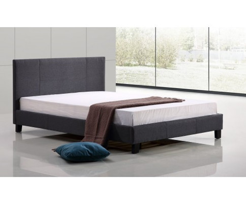 DOUBLE ALADFAR  FABRIC BED - GREY