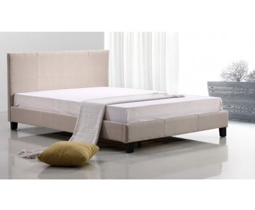 DOUBLE ALBALDAH FABRIC BED - BEIGE